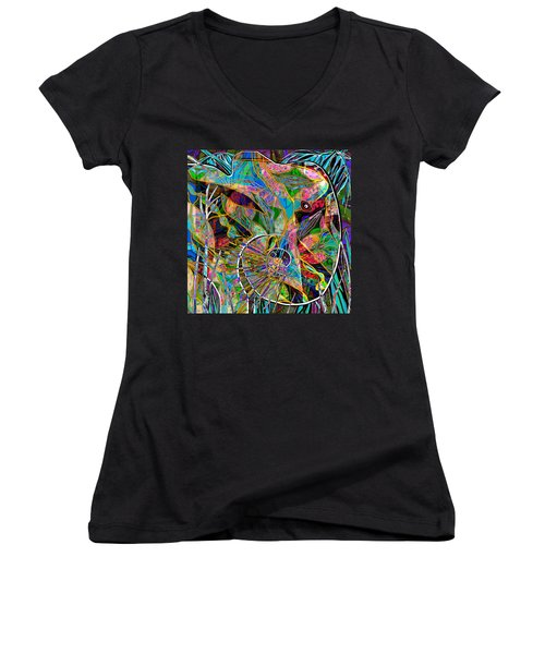 Elephant's Kaleidoscope Women's V-Neck (Athletic Fit)