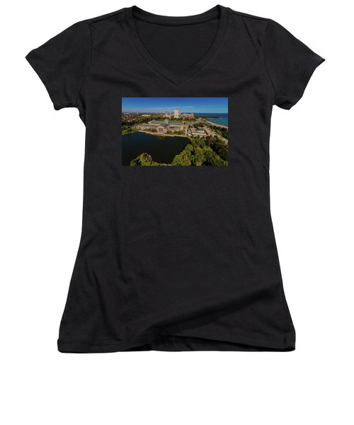Elevated View Of The Museum Of Science Women's V-Neck T-Shirt