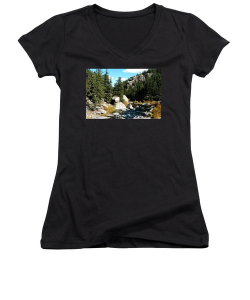 Eleven Mile Canyon Stream Women's V-Neck (Athletic Fit)