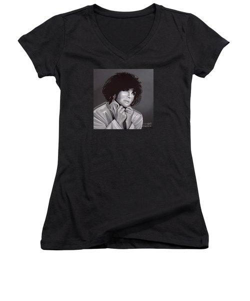 Elizabeth Taylor Women's V-Neck T-Shirt (Junior Cut) by Paul Meijering