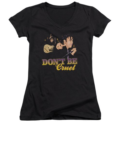 Elvis - Don't Be Cruel Women's V-Neck T-Shirt (Junior Cut)
