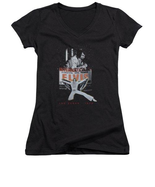 Elvis - Las Vegas Women's V-Neck (Athletic Fit)