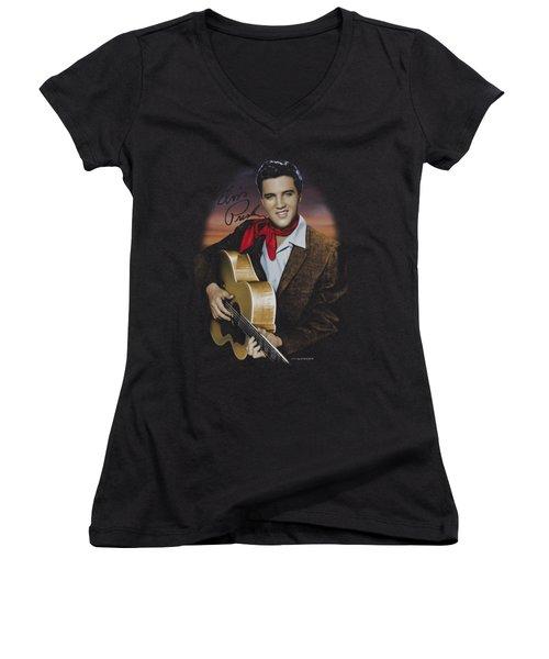 Elvis - Red Scarf #2 Women's V-Neck (Athletic Fit)