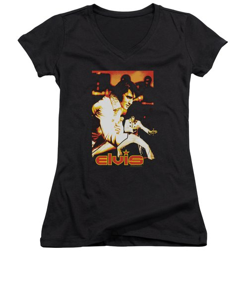 Elvis - Showman Women's V-Neck T-Shirt (Junior Cut)