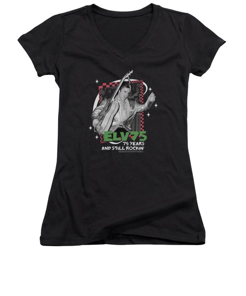 Elvis - Still Rockin Women's V-Neck T-Shirt (Junior Cut) by Brand A