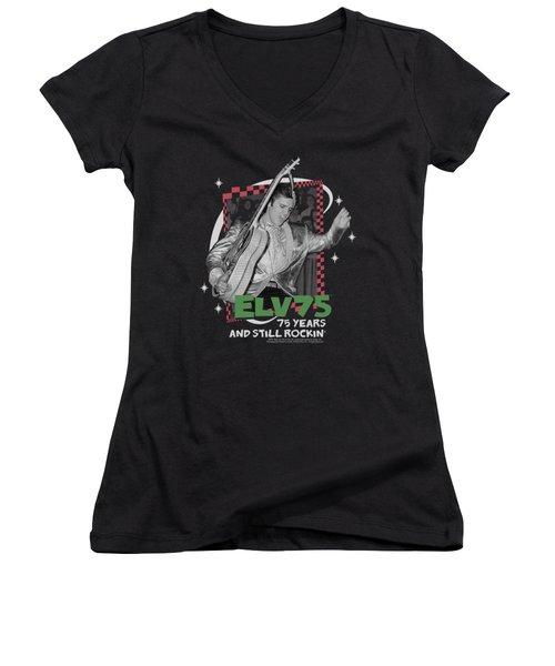 Elvis - Still Rockin Women's V-Neck T-Shirt (Junior Cut) by Brand A