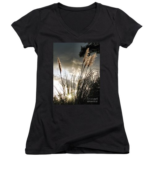 Embracing The Mystery Women's V-Neck T-Shirt