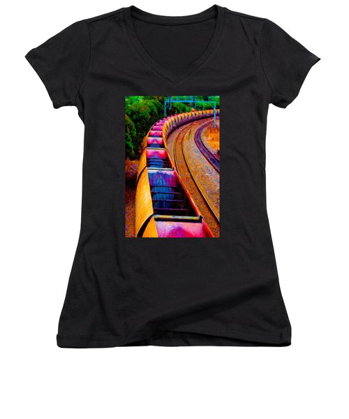 Empty Coal Hoppers Women's V-Neck (Athletic Fit)