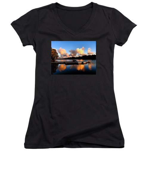 End Of A Summer Day Women's V-Neck T-Shirt