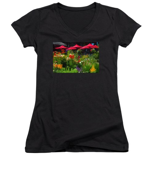 English Country Garden Women's V-Neck
