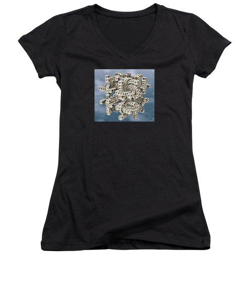 Escher's Construct Women's V-Neck T-Shirt