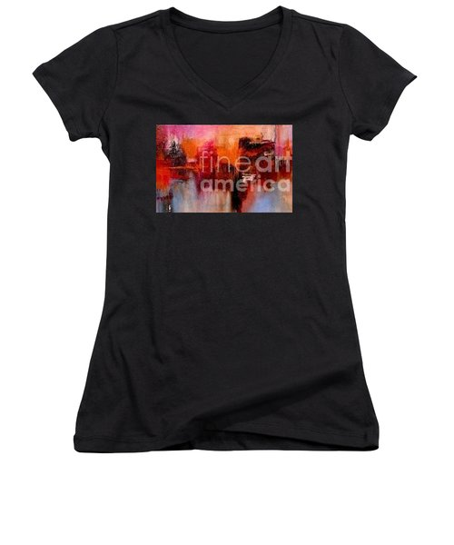 Espressions Of Reflections Women's V-Neck T-Shirt (Junior Cut) by Glory Wood