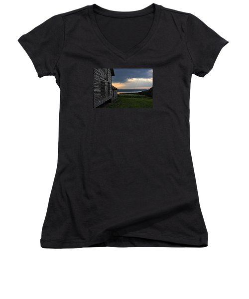 Evening Is Falling Women's V-Neck T-Shirt