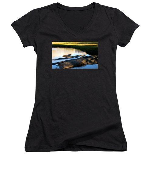 Contemplating Sunset Women's V-Neck T-Shirt