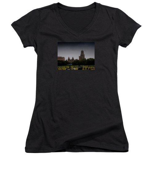 Evening Women's V-Neck T-Shirt (Junior Cut) by Salman Ravish