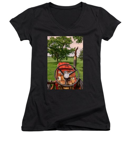 Ever Drive A Tractor Women's V-Neck
