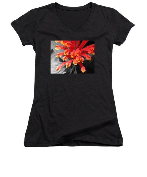Exotic Flower Women's V-Neck (Athletic Fit)