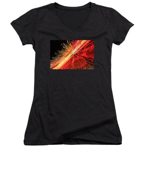Exploding Neon Women's V-Neck