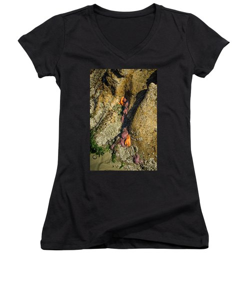 Women's V-Neck featuring the photograph Exposure by Roxy Hurtubise