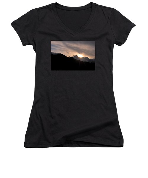 Women's V-Neck T-Shirt (Junior Cut) featuring the photograph Eye In The Sky by Matt Harang