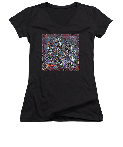 Eyeballs And Eight Balls Women's V-Neck (Athletic Fit)