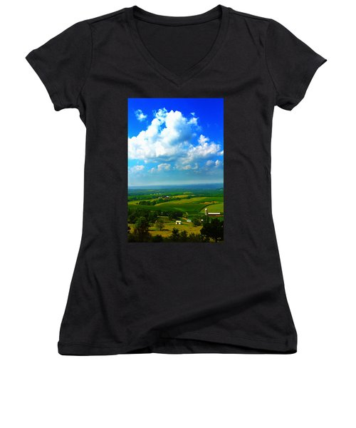 Eyes Over Farmland Women's V-Neck