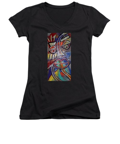 Faces In Life Collection Women's V-Neck