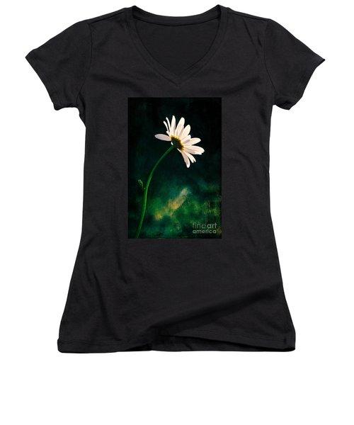 Facing The Sun Women's V-Neck T-Shirt (Junior Cut) by Randi Grace Nilsberg