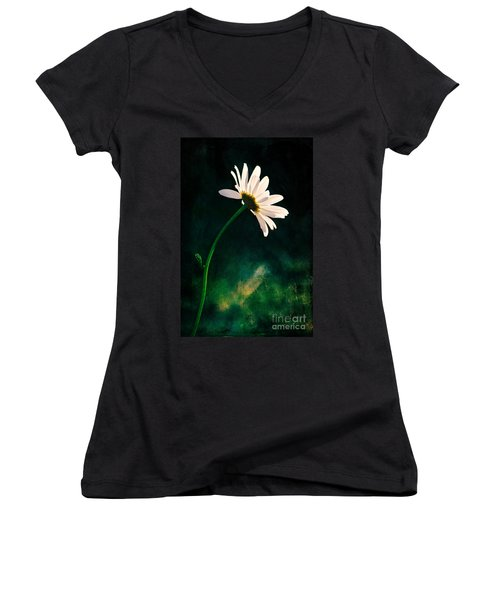 Facing The Sun Women's V-Neck (Athletic Fit)