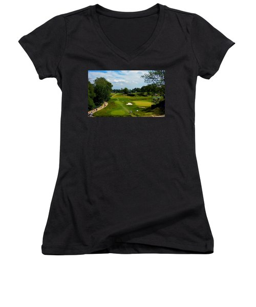 Fairways Greens Women's V-Neck (Athletic Fit)