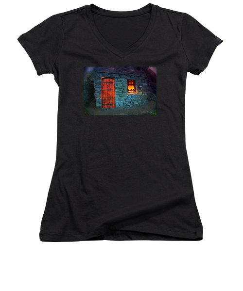 Fairy Tale Cabin Women's V-Neck T-Shirt