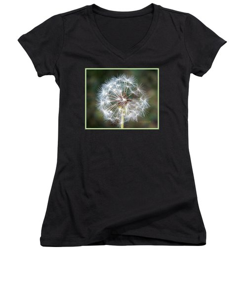 Women's V-Neck T-Shirt (Junior Cut) featuring the photograph Fairy Umbrellas by Kathy Barney