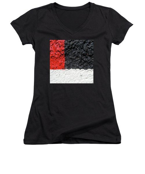 Women's V-Neck T-Shirt (Junior Cut) featuring the photograph Faith Hope Love by CML Brown