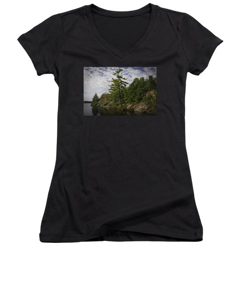 Fall In Northern Ontario Women's V-Neck