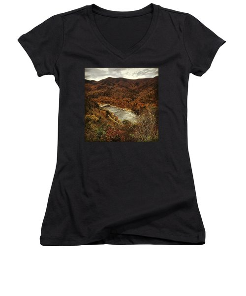 Fall On The Maury Women's V-Neck