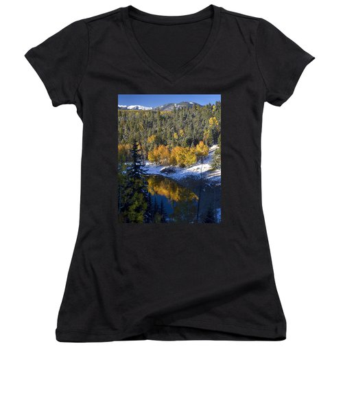 Fall Reflections On Bobcat Pass Women's V-Neck (Athletic Fit)