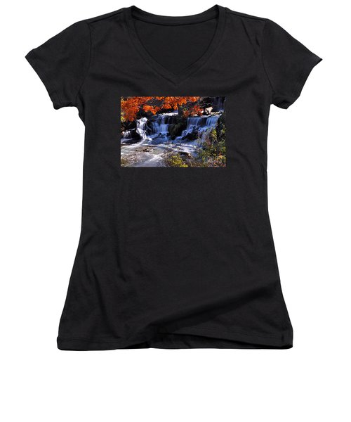 Falls In The Fall Women's V-Neck