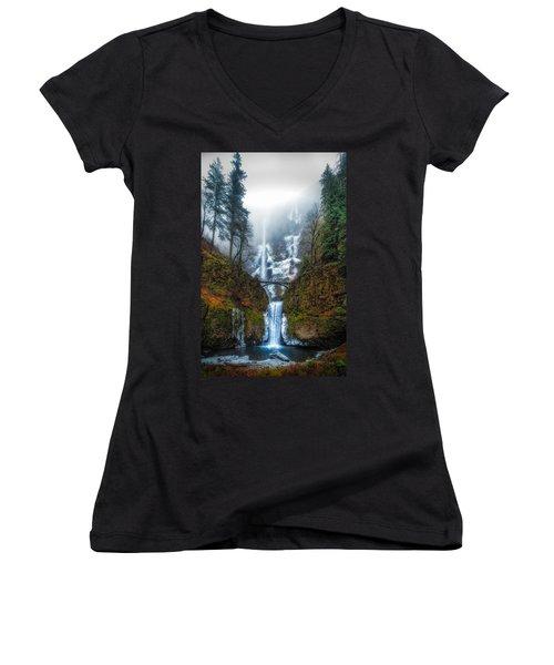 Falls Of Heaven Women's V-Neck T-Shirt (Junior Cut)