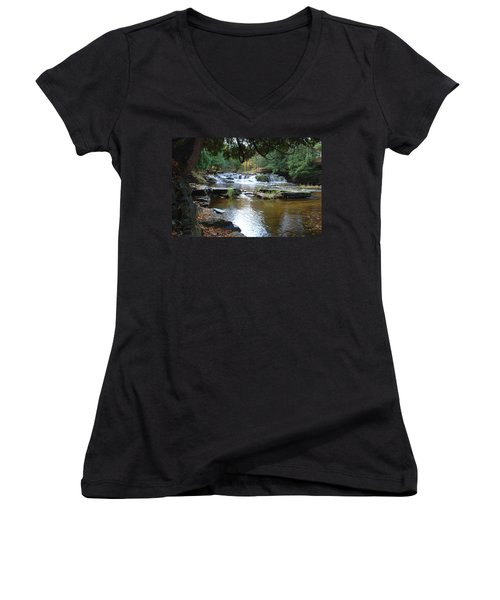 Falls River Women's V-Neck T-Shirt