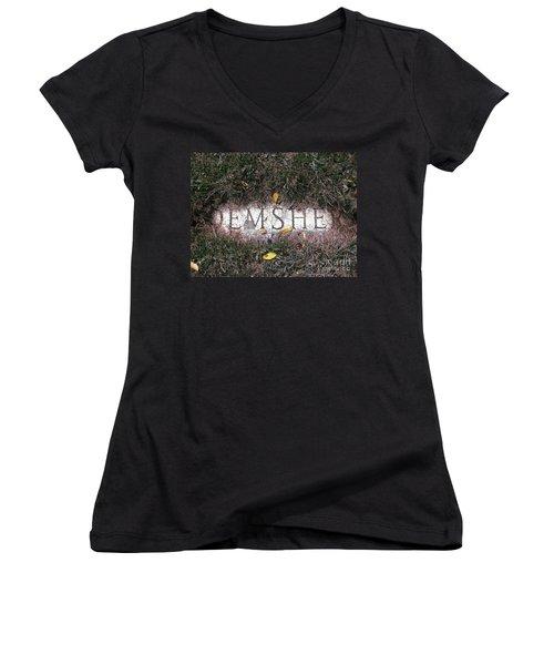 Women's V-Neck T-Shirt (Junior Cut) featuring the photograph Family Crest by Michael Krek
