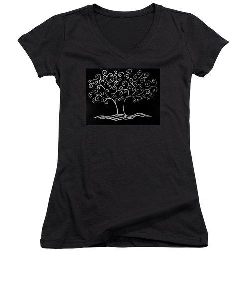 Family Tree Women's V-Neck T-Shirt (Junior Cut) by Jamie Lynn