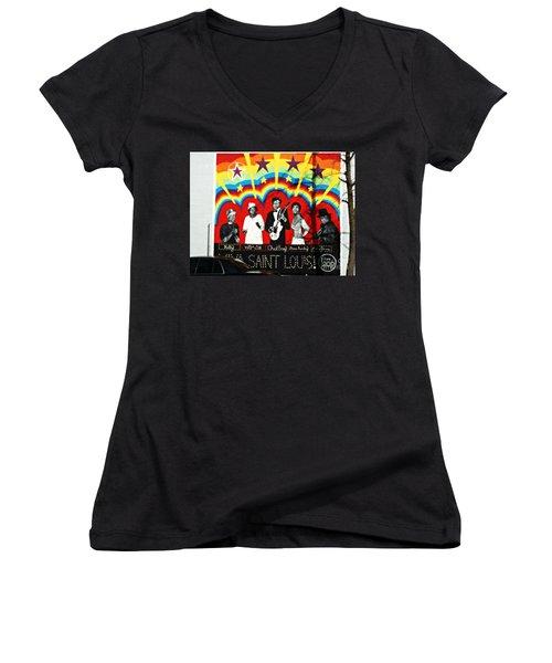 Famous St. Louisans Women's V-Neck T-Shirt (Junior Cut)