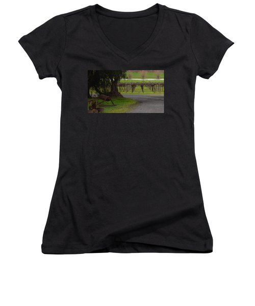 Farm And Vineyard Women's V-Neck (Athletic Fit)
