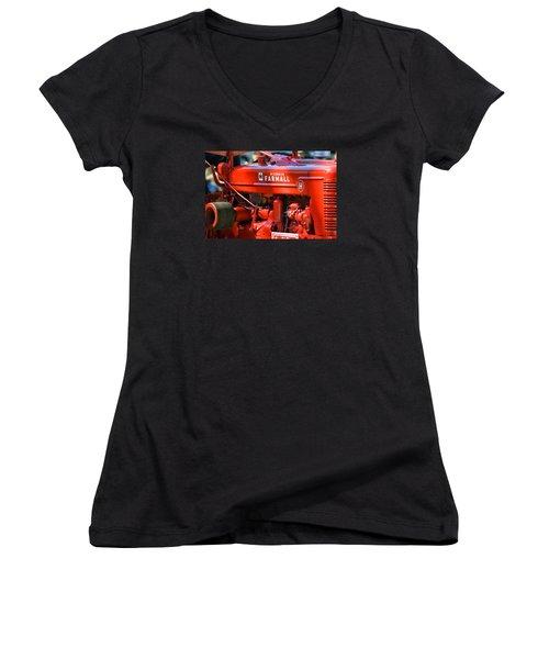 Farm Tractor 11 Women's V-Neck T-Shirt (Junior Cut) by Thomas Woolworth