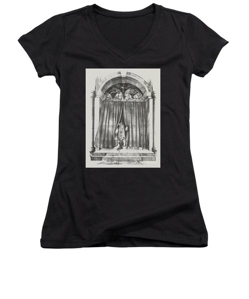 Fear's Overture Women's V-Neck T-Shirt (Junior Cut) by Yvonne Wright