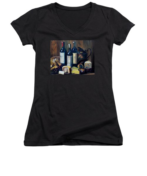 Feast Still Life Women's V-Neck T-Shirt