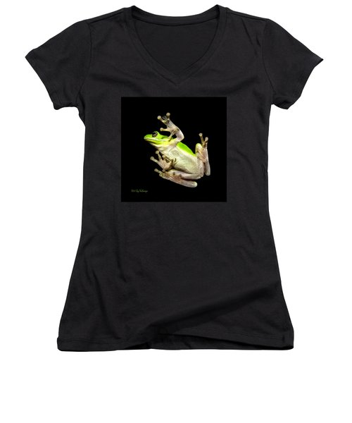 Feathered Frog Women's V-Neck