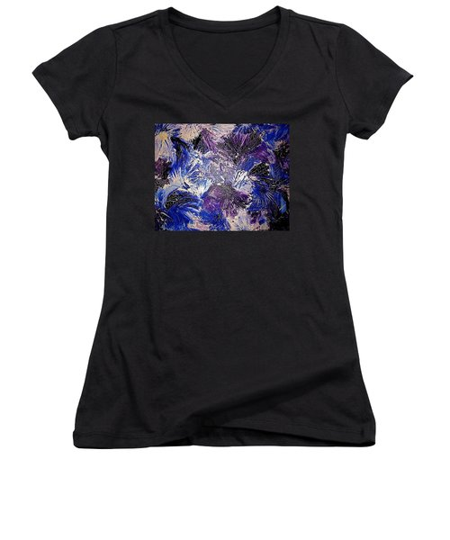 Feathers In The Wind Women's V-Neck (Athletic Fit)