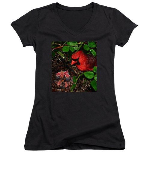 Feed Me Daddy Women's V-Neck (Athletic Fit)