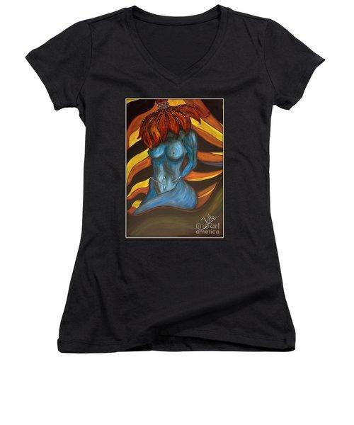 Feeling The Blues... Women's V-Neck T-Shirt